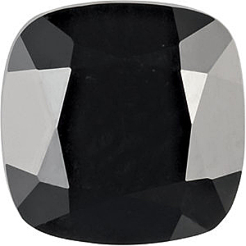 Grade AAA - Antique Square Genuine Black Onyx 5.00 mm to 6.00 mm