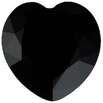 Grade AAA - Heart Shape Black Onyx 4.00 mm to 6.00 mm