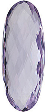 Grade AA - Double Sided Checkerboard Oval Genuine Rose de France Amethyst 25.00 x 10.00 mm to 30.00 x 12.00 mm