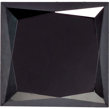 Princess Shape Enhanced Black Diamond SI Clarity, 4.00 mm in Size, 0.6 Carats