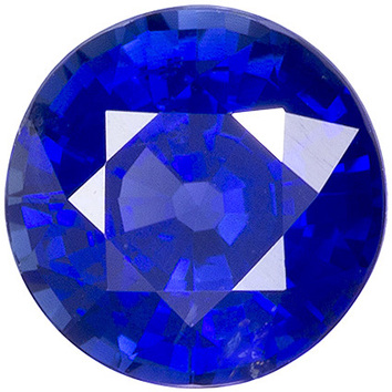 Great Color in Round Blue Sapphire Loose Gem in Round Cut from Madagascar in 6.5 mm, 1.44 carats