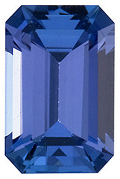 Natural Quality Loose Emerald Shape Tanzanite Gem Grade AAA, 8.00 x 6.00 mm in Size, 1.5 Carats