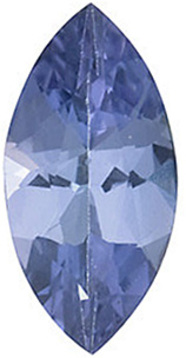 Standard Size Loose Genuine Marquise Shape Tanzanite Gem Grade A, 6.00 x 3.00 mm0.25 Carats