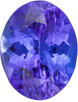Faceted Loose Calibrated Size Oval Shape Tanzanite Gem Grade AA, 8.00 x 6.00 mm in Size, 1.35 Carats