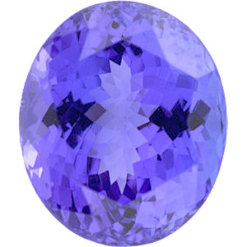 Standard Size Loose Genuine Oval Shape Tanzanite Gem Grade B 6.00 x 4.00 mm in Size, 0.5 Carats