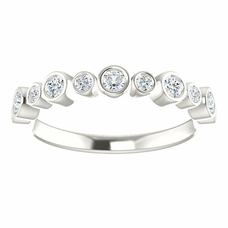 Sterling Silver 1/3 Carat Total Weight Diamond Ring