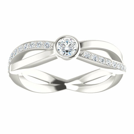 Sterling Silver 1/3 Carat Total Weight Diamond Infinity-Style Ring