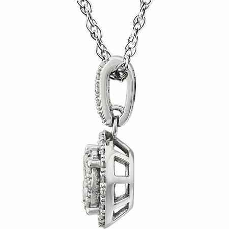 14 KT White Gold 1/2 Carat Total Weight Halo-Style Diamond 18