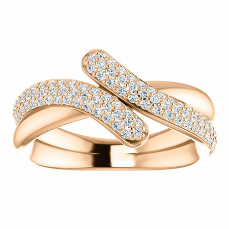 14 KT Rose Gold 1/2 Carat Total Weight Diamond Ring