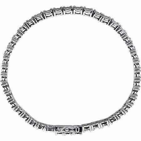 Sterling Silver 1/4 Carat Total Weight Diamond Line 7.5