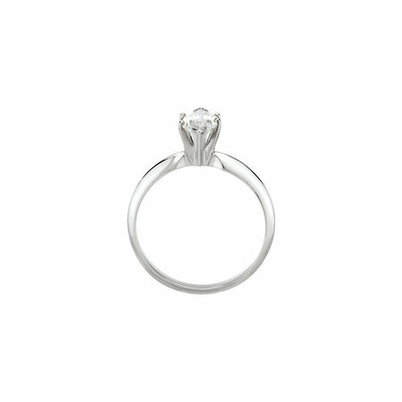 18K Yellow & Platinum 6-Prong Marquise V-End Heavy Solitaire Engagement Ring
