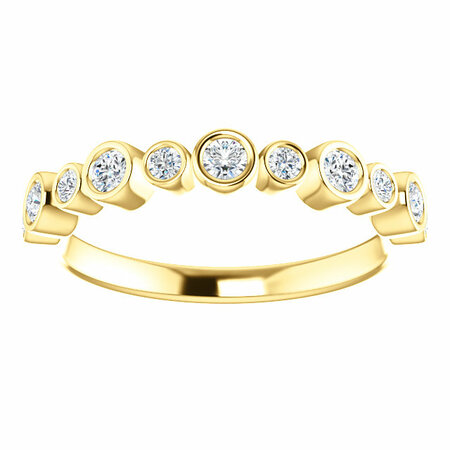 14 KT Yellow Gold 1/3 Carat Total Weight Diamond Ring