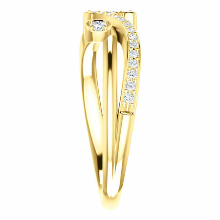 14 KT Yellow Gold 1/5 Carat Total Weight Diamond Ring
