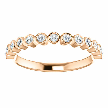 14 KT Rose Gold 1/4 Carat Total Weight Diamond Ring