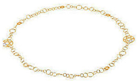 Long and Luxurious Two Tone 14k Yellow and White Gold 30