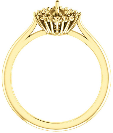 Regal Halo Style Engagment Ring for Marquise Shape Centergem Sized 6.00 x 3.50 mm to 12.00 x 6.00 mm - Customize Metal, Accents or Gem Type