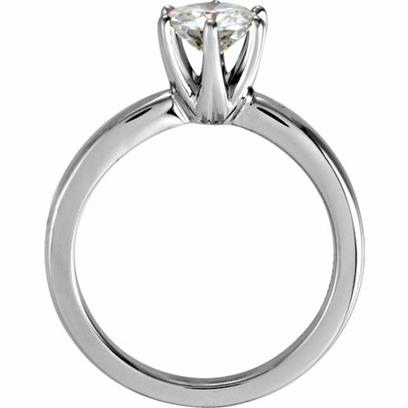 14KT White Gold 6.5mm Round Forever Classic™ Moissanite Solitaire Engagement Ring