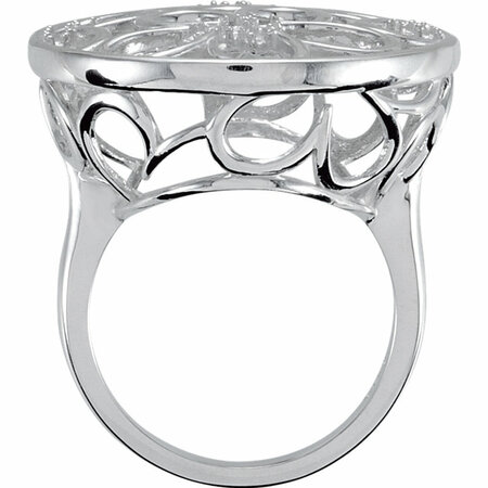 1/6 Carat Total Weight Floral Design Diamond Ring