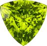 Rich Lime Green Peridot Gem in Trillion Cut, 12.7 mm, 6.51 carats