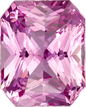 Untreated GIA Pure Pink Sapphire Gem in Radiant Cut, 7.64 x 6.14 x 4.23 mm, 1.8 carats