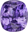 No Heat Rich Lavender Certified by GIA Sapphire Gem in Cushion Cut, 7.73 x 6.91 x 4.69 mm, 2.06 carats