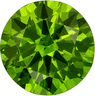 Beautiful Russia Demantoid Garnet Loose Gem in Round Cut, Intense Grass Green, 5 mm, 0.55 carats