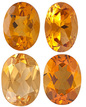 GOLDEN CITRINE  Oval Cut Gems - Calibrated