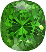 Excellent Clarity on Rich Grass Green Tsavorite, 7.5 x 6.6 mm, Cushion Cut, 2.02 carats - SOLD