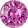 Intense Pink Loose Sapphire Gem in Round Cut, 7.0 mm, 1.60 carats - SOLD