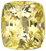 Impressive GEM Unheated Bright Yellow Sapphire Genuine Gem with GRS Cert for SALE, Cushion Cut, 20.37 carats - SOLD