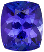 Wonderful Color on this Genuine Tanzanite Stone, Best Price! Cushion cut, 1.74 carats
