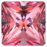 SWAROVSKI GEMS PINK PASSION TOPAZ Princess Cut Gems  - Calibrated