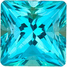 SWAROVSKI GEMS PARAIBA PASSION TOPAZ Princess Cut Gems  - Calibrated