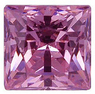 PINK CUBIC ZIRCONIA Princess Cut Gems - Calibrated