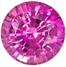 Grade AAA - Round Genuine Pink Sapphire 3.00 mm to 5.50 mm