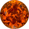Vibrant Flame Orange Spessartite Loose Nigerian Gem in Round Cut, 6.8 mm, 2.1 Carats