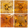 GOLDEN CITRINE  Princess Cut Gems - Calibrated
