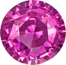 No Heat Vivid Intense Pink Sapphire Gem in Round Cut, GIA Certed in 7.61 x 4.44 mm, 1.93 carats - SOLD