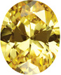 Yellow Cubic Zirconia Loose Faceted Gemstone Oval Shape Gemstone Sized 5.00 x 3.00 mm
