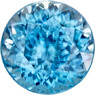 Medium Blue Zircon Loose Gem in Round Cut, Medium Blue Color in 7.5 mm, 2.67 Carats - SOLD