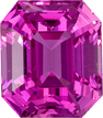 Stunning Look Rich Pure Pink Sapphire Loose Gemstone in Classic Emerald Cut, 6.7 x 5.9 mm, 1.75 carats