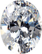 Genuine Colorless Cubic Zirconia Gemstone in Oval Shape Sized 4.00 x 3.00 mm
