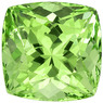 1.45 carats Fiery Garnet Gemstone in Cushion Cut in Mint Green, 5.9 x 5.8 mm Size