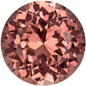 Super Lively Round Cut Garnet Loose Gem, Coppery Peach, 6.9 mm, 1.66 carats