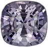 1.54 carats Gray Spinel Gemstone in Cushion Cut in Platinum Gray, 6.8 mm