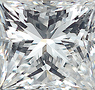 Genuine Princess Cut Diamonds in IJ Color - SI Clarity