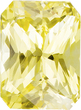 Untreated GIA Certified Yellow Sapphire Gem in Radiant Cut, 9.31 x 6.95 x 5.44 mm, 3.53 carats