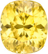 Unique Yellow Zircon Loose Natural Gem in Cushion Cut, Vivid Rich Yellow Color in 9.6 x 8.5 mm, 5.3 Carats