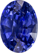 Oval Cut Loose Blue Sapphire Medium Color Gem, 8.9 x 6.4 mm, 2.18 carats
