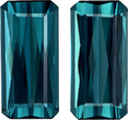 Unique Teal Blue Tourmaline Matched Pair in Emerald Cut, 15 x 7.3 mm, 10.32 carats